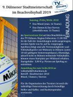 Weiter lesen   Volleyball: Ankündigung 9. Beachmeisterschaften